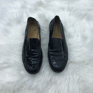 Tod's Black Patent Loafers Size 9